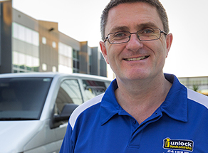man smiling mobile view - Commercial Locksmith Sydney